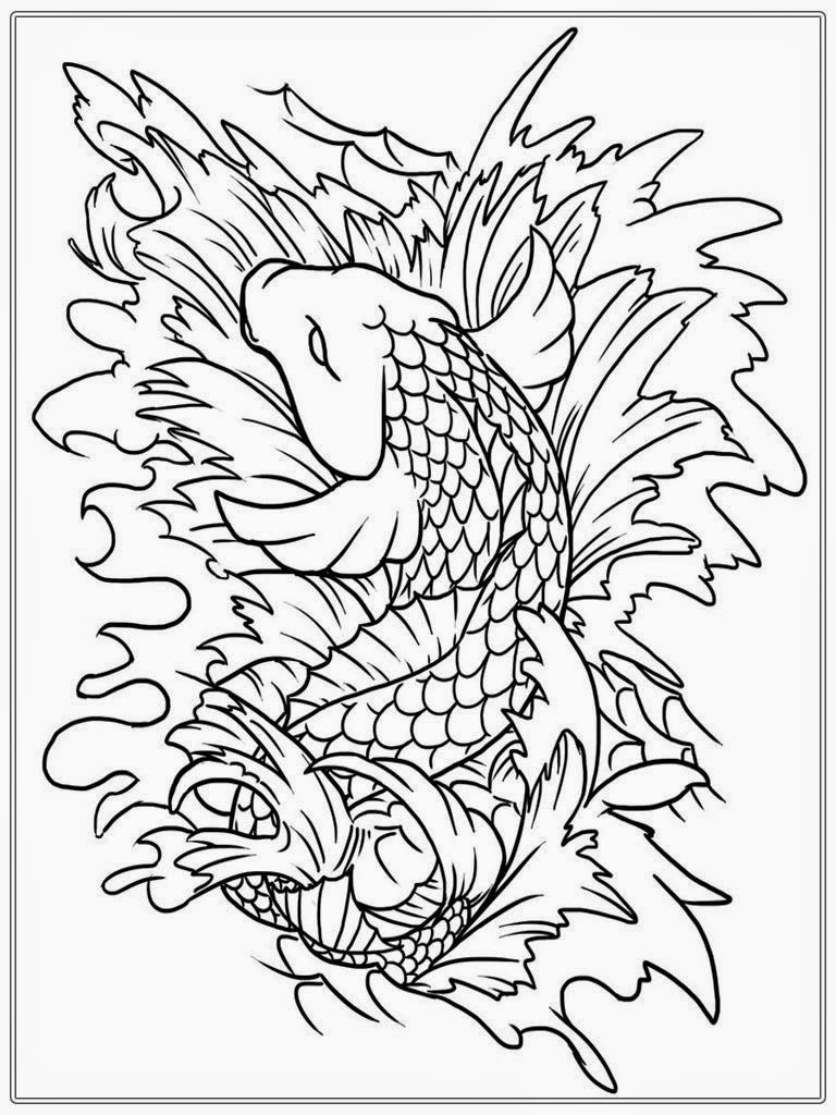 japanese koi fish coloring pages japanese koi coloring pages download and print for free fish pages coloring japanese koi