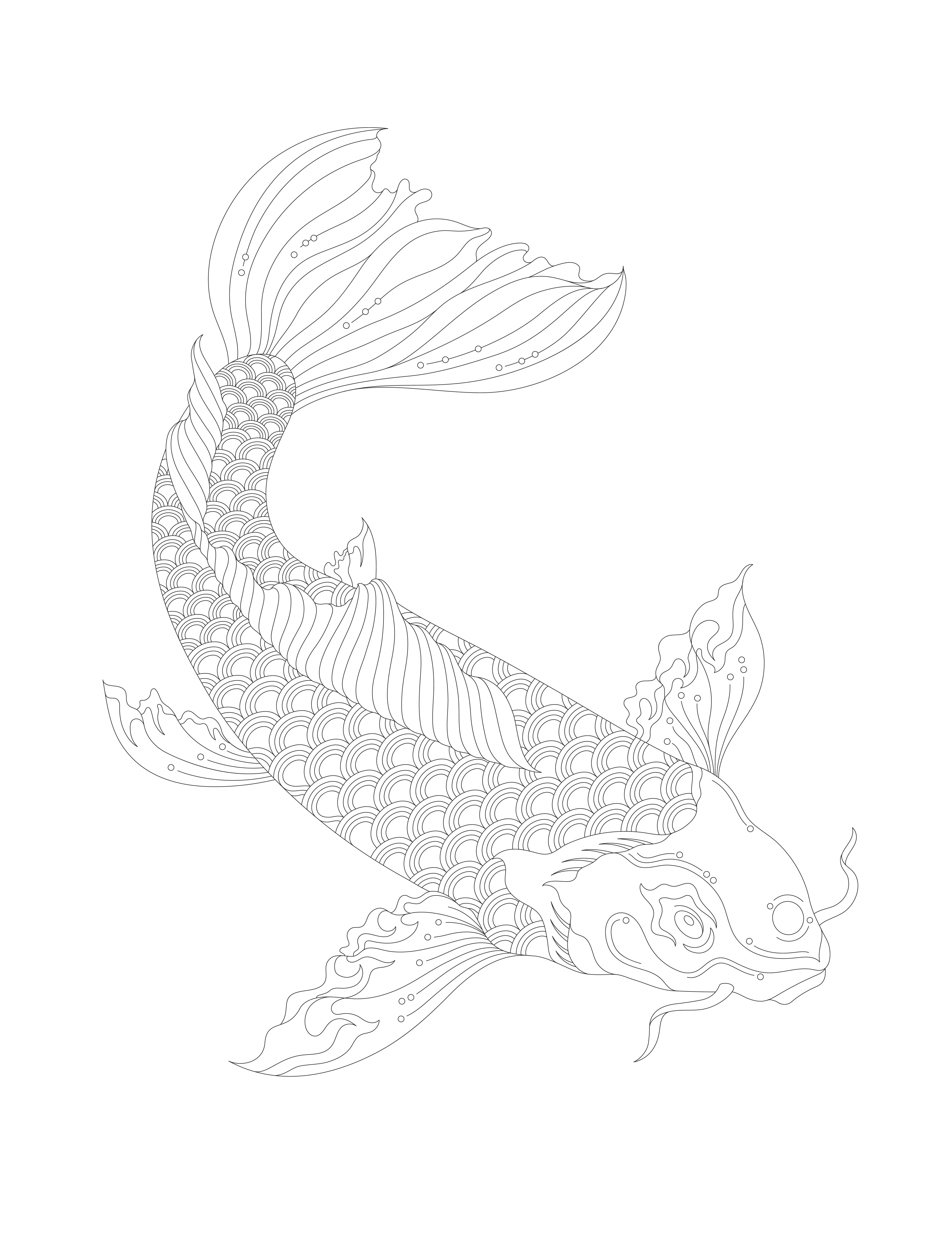japanese koi fish coloring pages koi fish in a pond coloring page print color fun japanese coloring koi pages fish