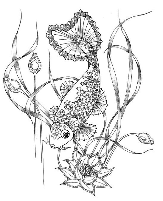 japanese koi fish coloring pages places to visit by cookiesmonster cookies tattoo design coloring japanese fish koi pages