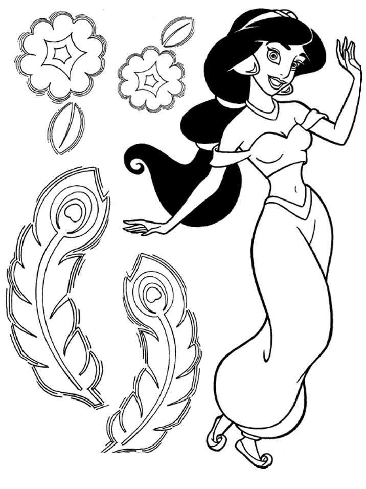 jasmine coloring sheets jasmine coloring pages download and print for free coloring sheets jasmine 1 1