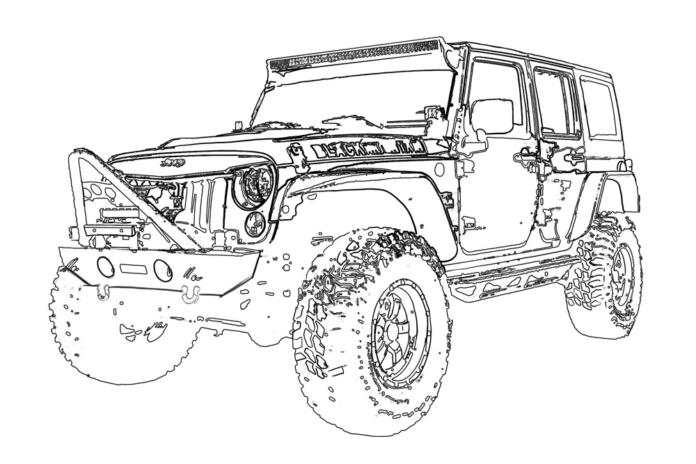 jeep coloring page free jeep coloring pages to print page jeep coloring