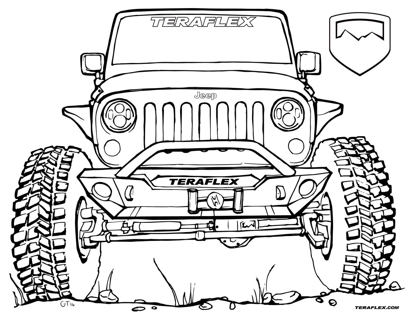 jeep coloring page jeep coloring pages kidsuki page jeep coloring