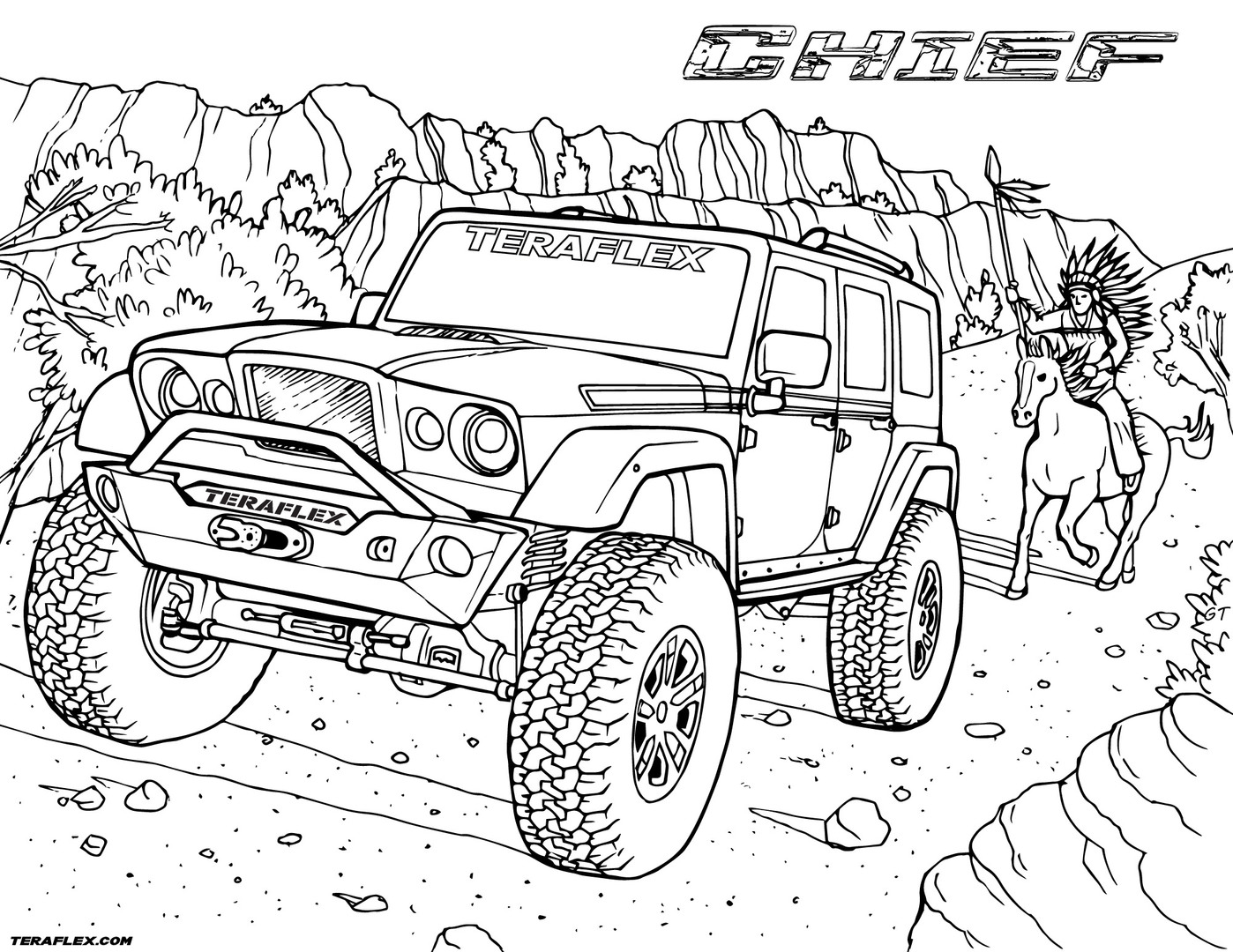 jeep coloring page jeep coloring pages to download and print for free jeep page coloring