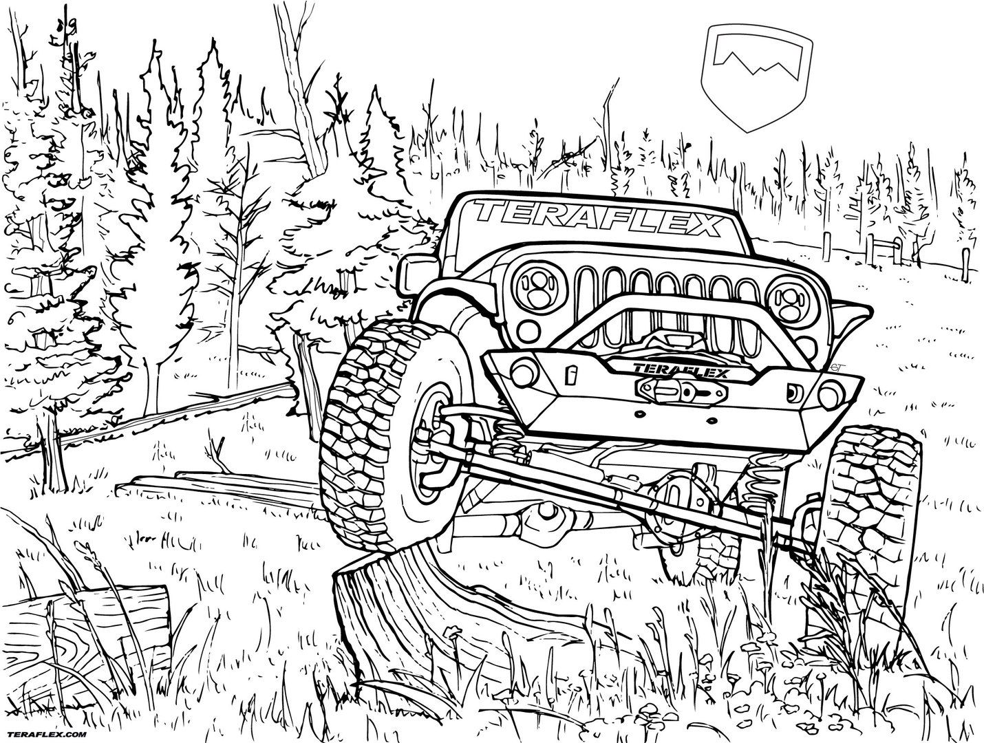jeep coloring page jeep wrangler unlimited coloring pages coloring jeep page