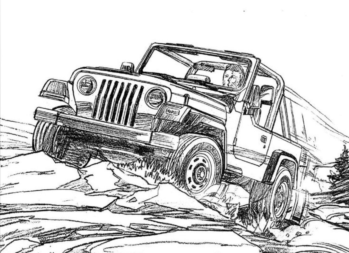 jeep coloring page lifted jeep wrangler coloring page pages sketch coloring page jeep page coloring