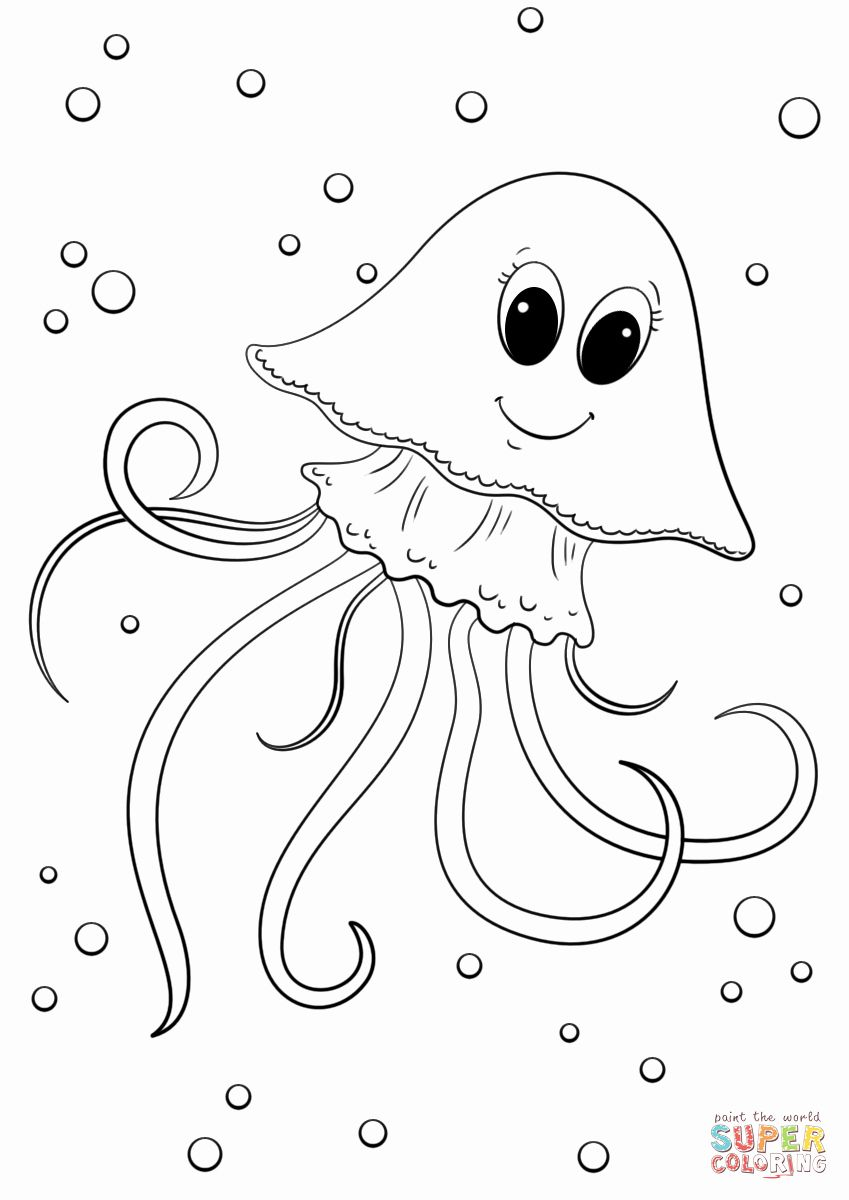 jellyfish drawing for kids 28 jelly fish coloring page in 2020 fish coloring page jellyfish kids for drawing