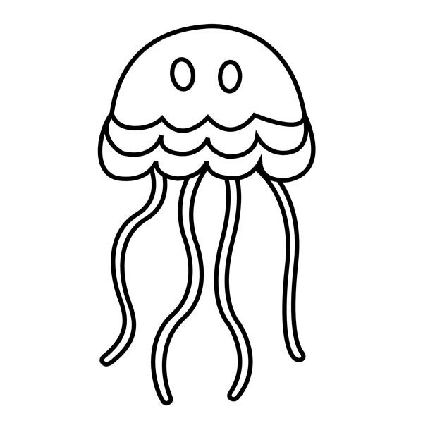 jellyfish drawing for kids 34 best coloring pages let39s draw kids images on for jellyfish drawing kids