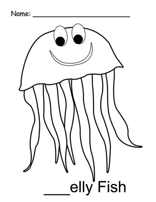 jellyfish drawing for kids mr jellyfish coloring page download print online kids jellyfish for drawing
