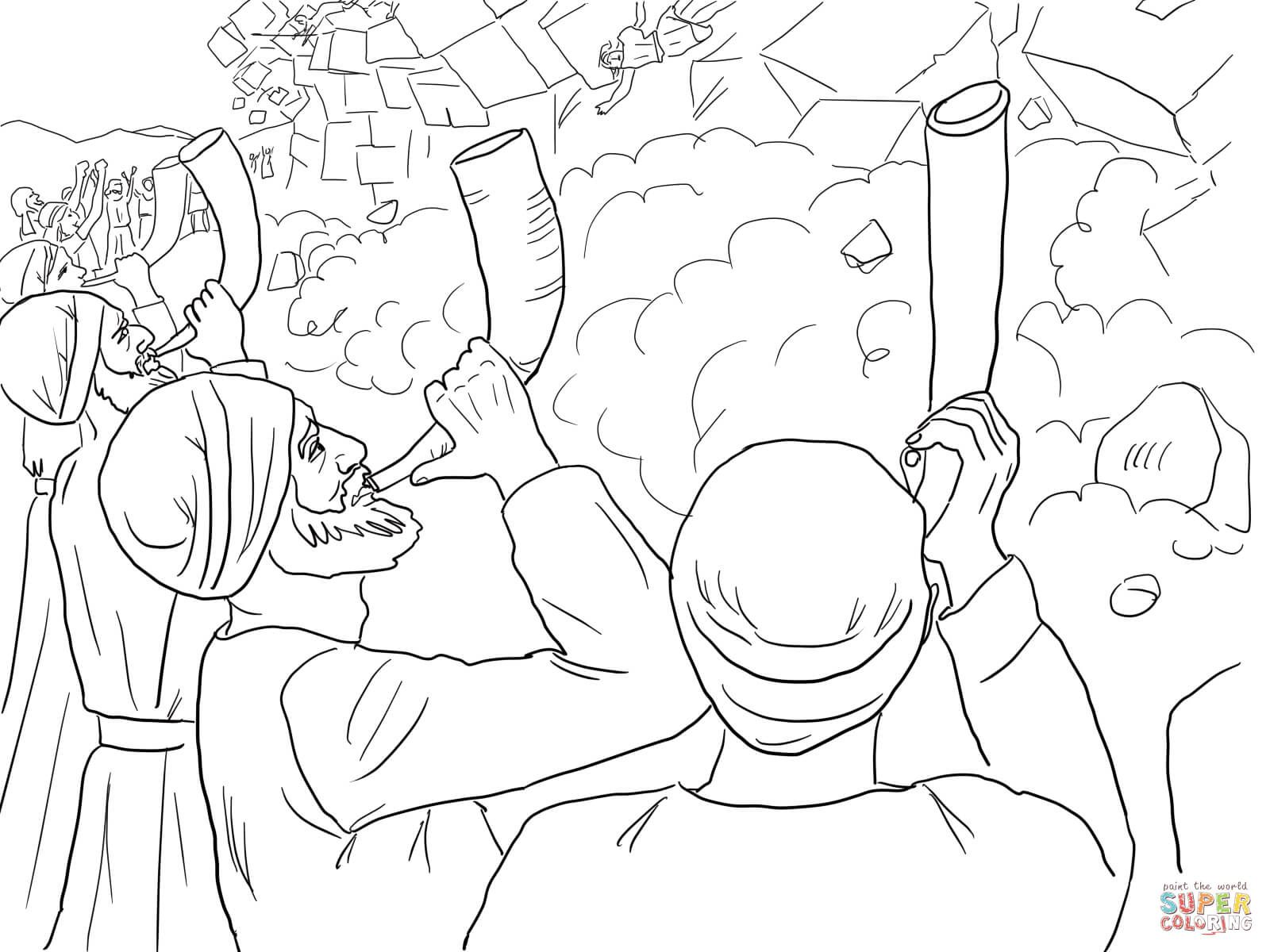 jericho walls coloring page joshua fought the battle of jericho coloring pages walls coloring jericho page