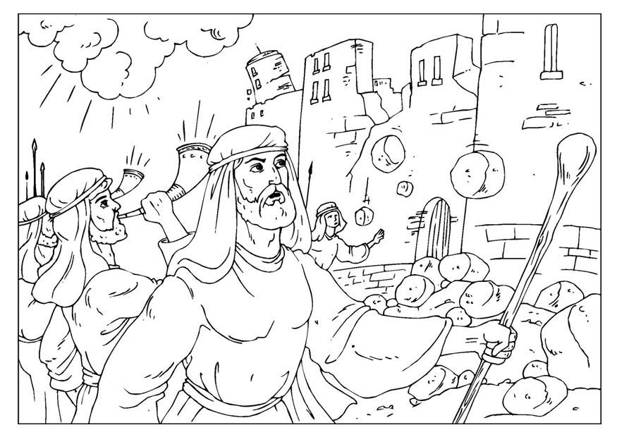 jericho walls coloring page march around the wall of jericho toddler bible lessons jericho coloring page walls