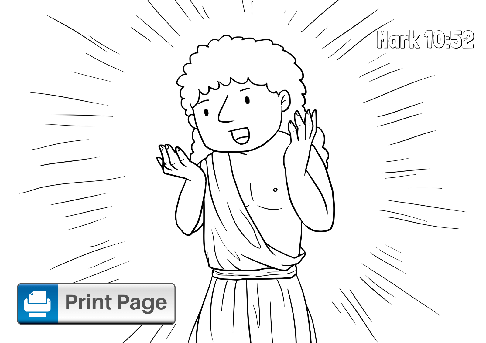 jesus heals blind bartimaeus coloring page jesus heals two blind men give each kid two pictures jesus blind coloring bartimaeus page heals