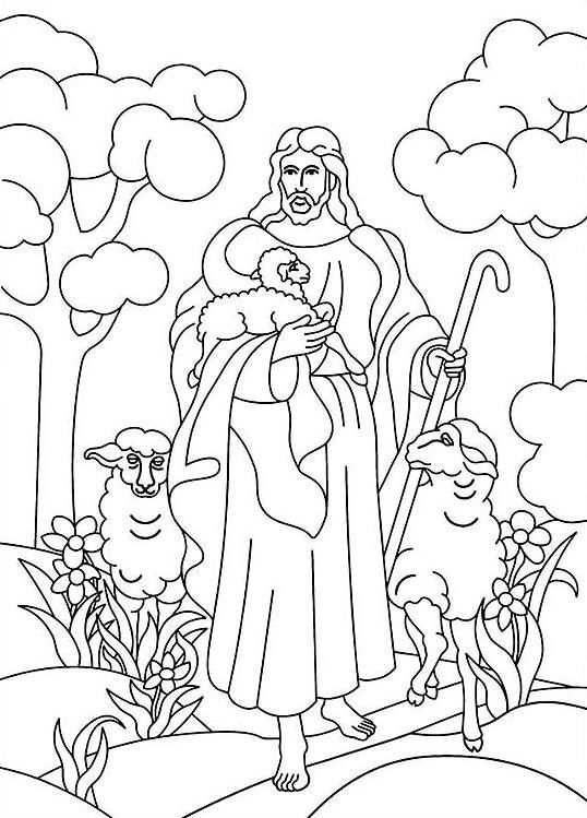 jesus the shepherd coloring pages free christian coloring pages for kids children and jesus coloring the pages shepherd