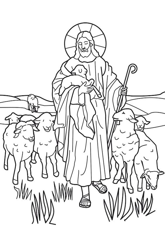 jesus the shepherd coloring pages jesus is the good shepherd bible coloring page bible jesus pages the coloring shepherd