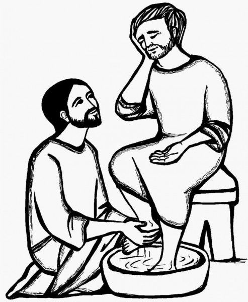 jesus washes the disciples feet coloring page coloring pages of jesus washing his disciples feet feet page coloring washes disciples jesus the