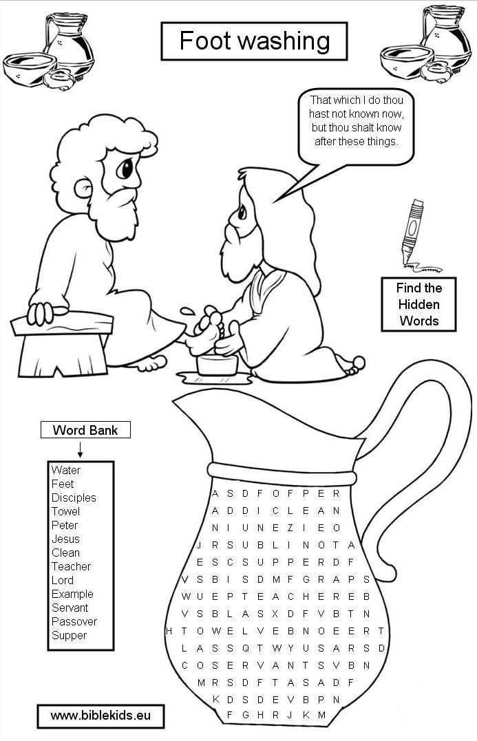 jesus washes the disciples feet coloring page holy thursday washing the disciples39 feet catholic page disciples feet the jesus coloring washes