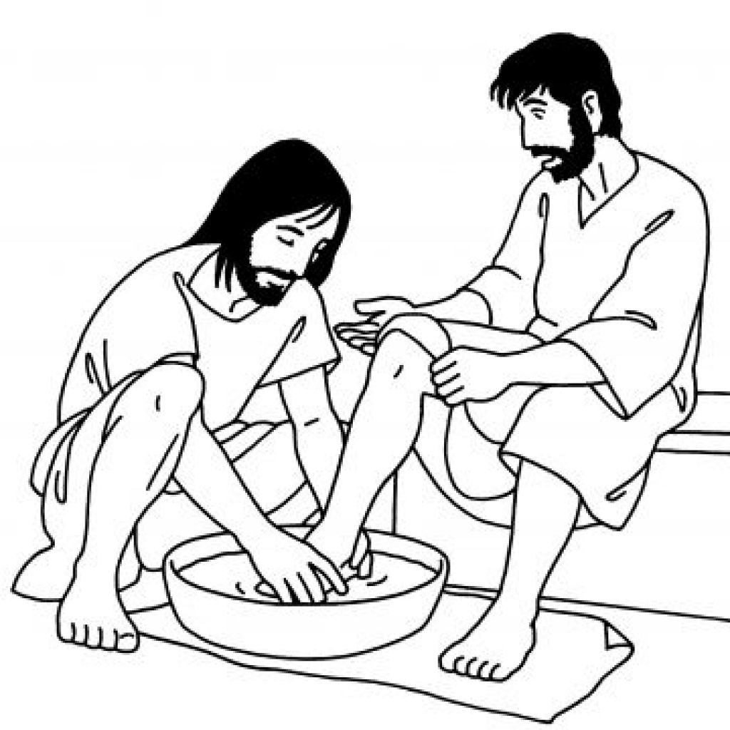 jesus washes the disciples feet coloring page jesus washes his disciples feet coloring page toddler coloring page the washes disciples jesus feet