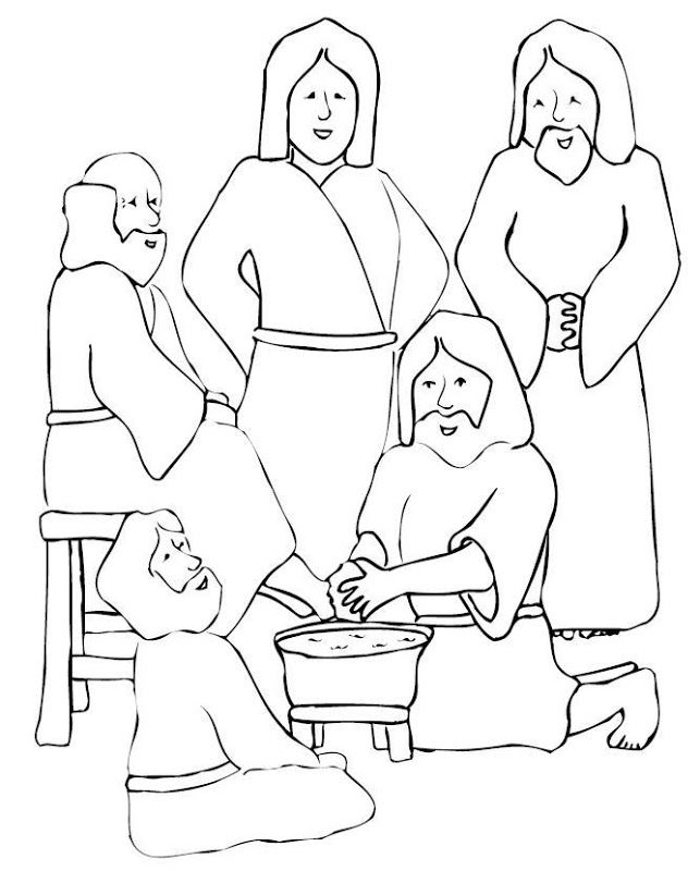 jesus washes the disciples feet coloring page jesus washes the disciples feet coloring page coloring home jesus disciples washes the feet coloring page