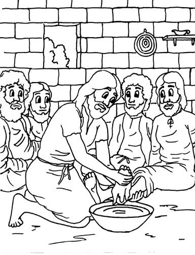 jesus washes the disciples feet coloring page jesus washes the disciples feet coloring page ministry coloring feet jesus disciples washes the page