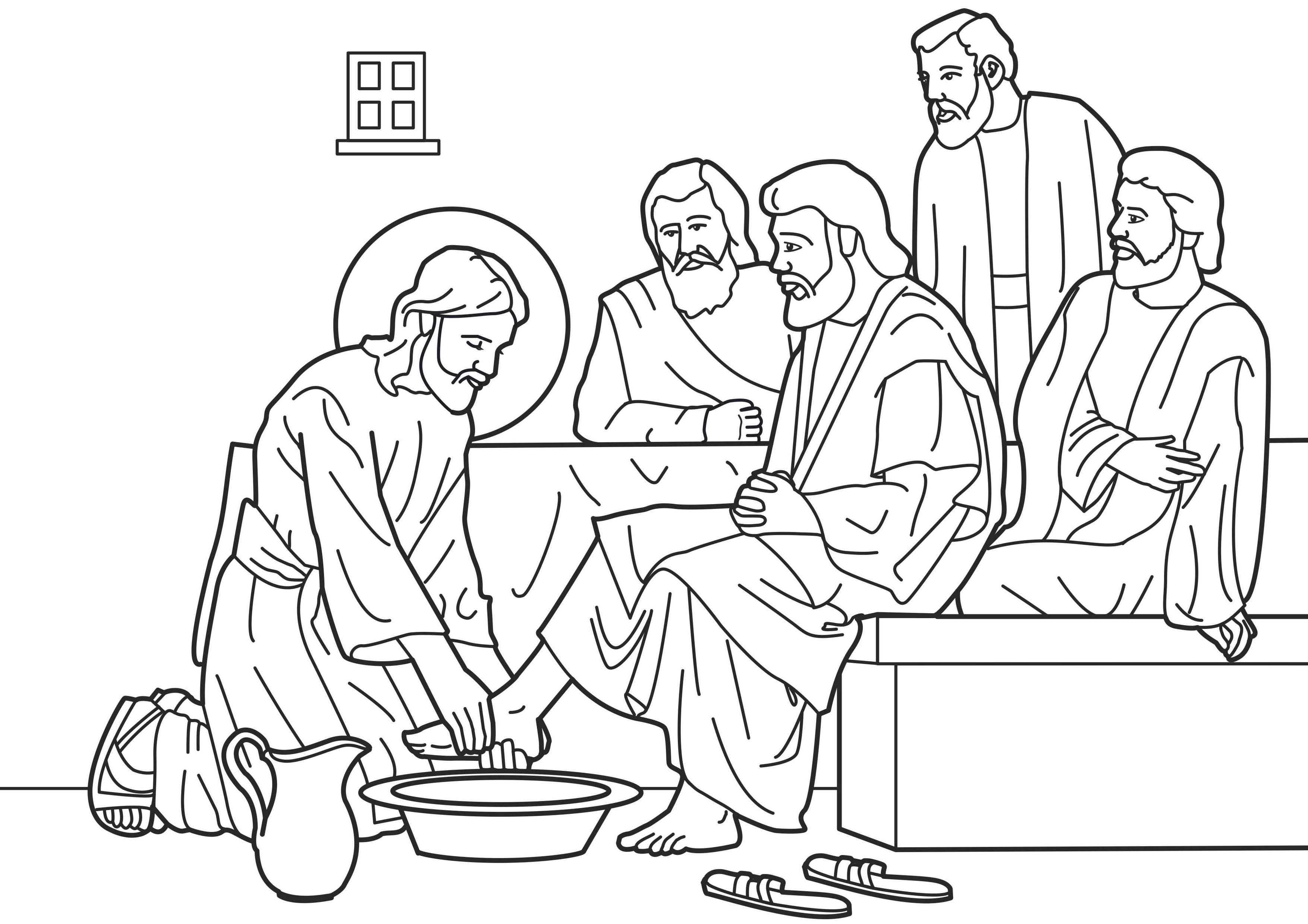jesus washes the disciples feet coloring page jesus washes the disciples feet coloring page washing disciples page jesus feet the coloring washes