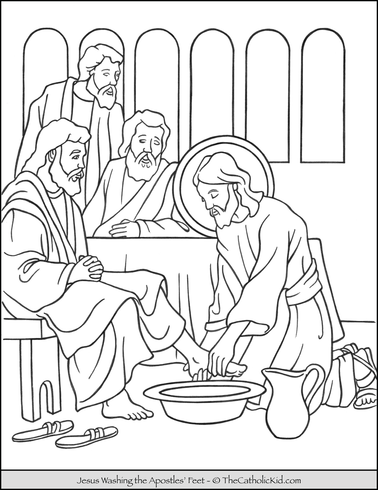jesus washes the disciples feet coloring page jesus washing feet coloring pages free coloring pages jesus disciples page feet coloring washes the