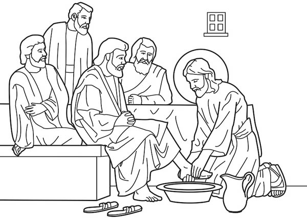 jesus washes the disciples feet coloring page last supper coloring pages for children free coloring pages washes coloring disciples page feet jesus the