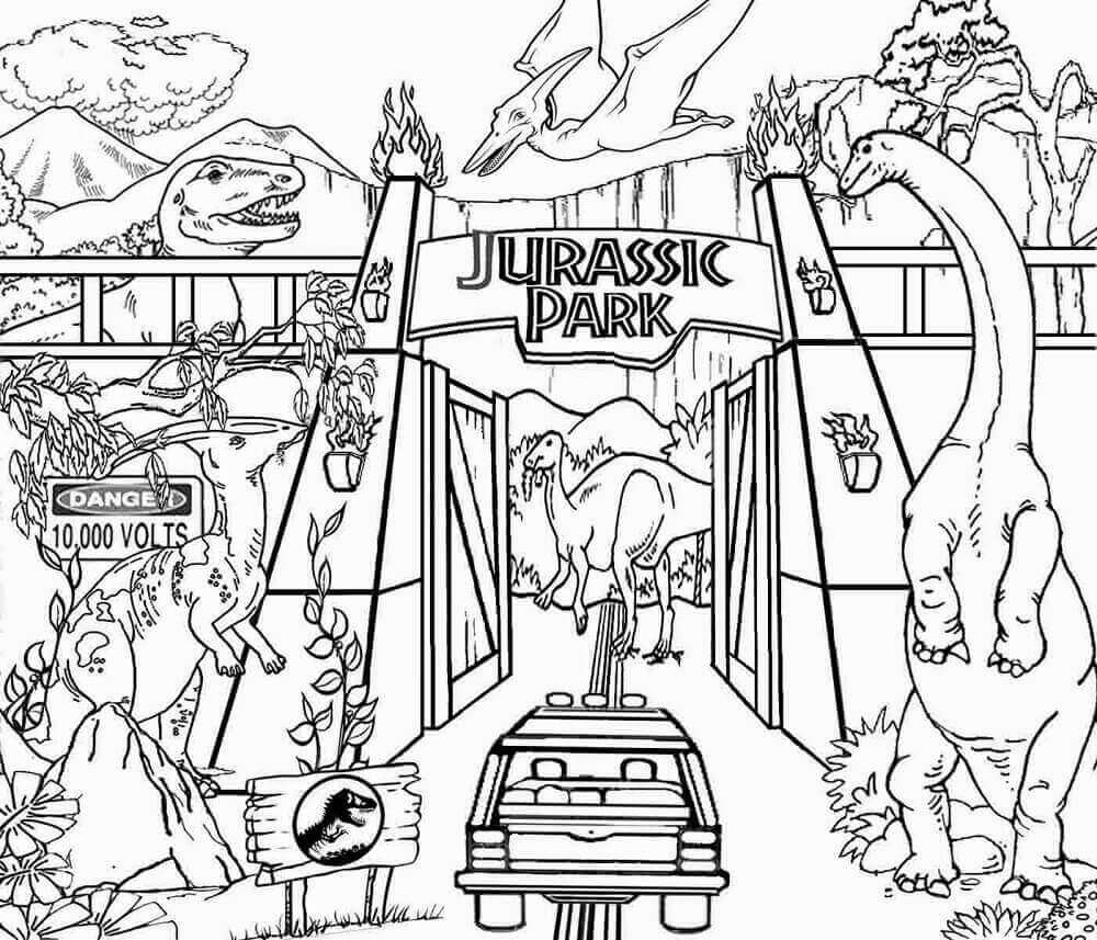 jurassic park coloring pages free coloring pages printable pictures to color kids park coloring jurassic pages