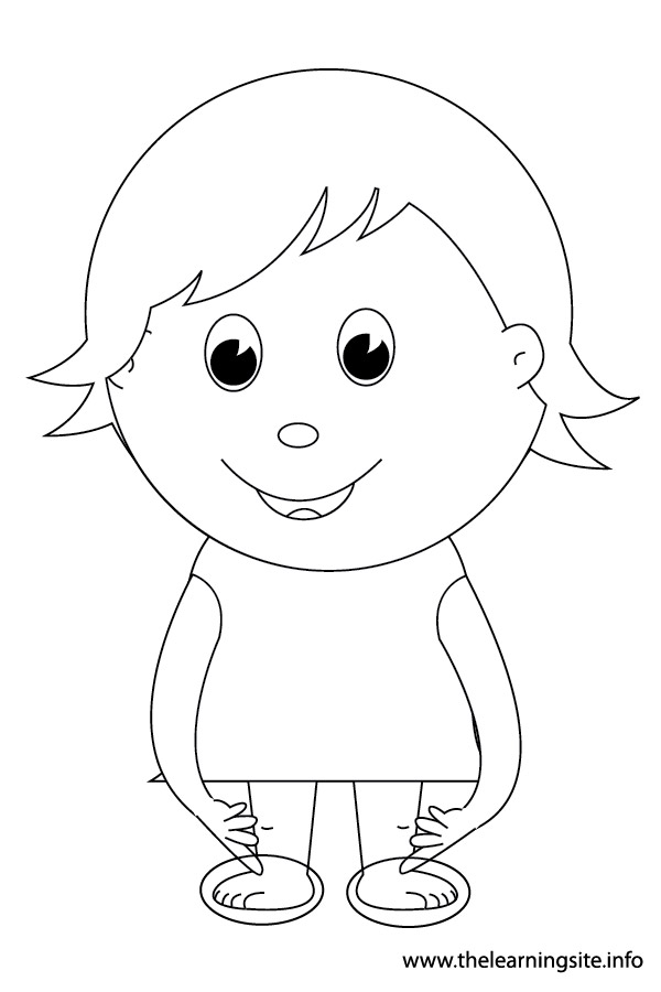 kid outline coloring page body outline coloring pages download and print for free coloring kid outline page