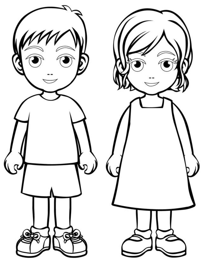 kid outline coloring page cartoon coloring pages cartoon gallery kid coloring page outline