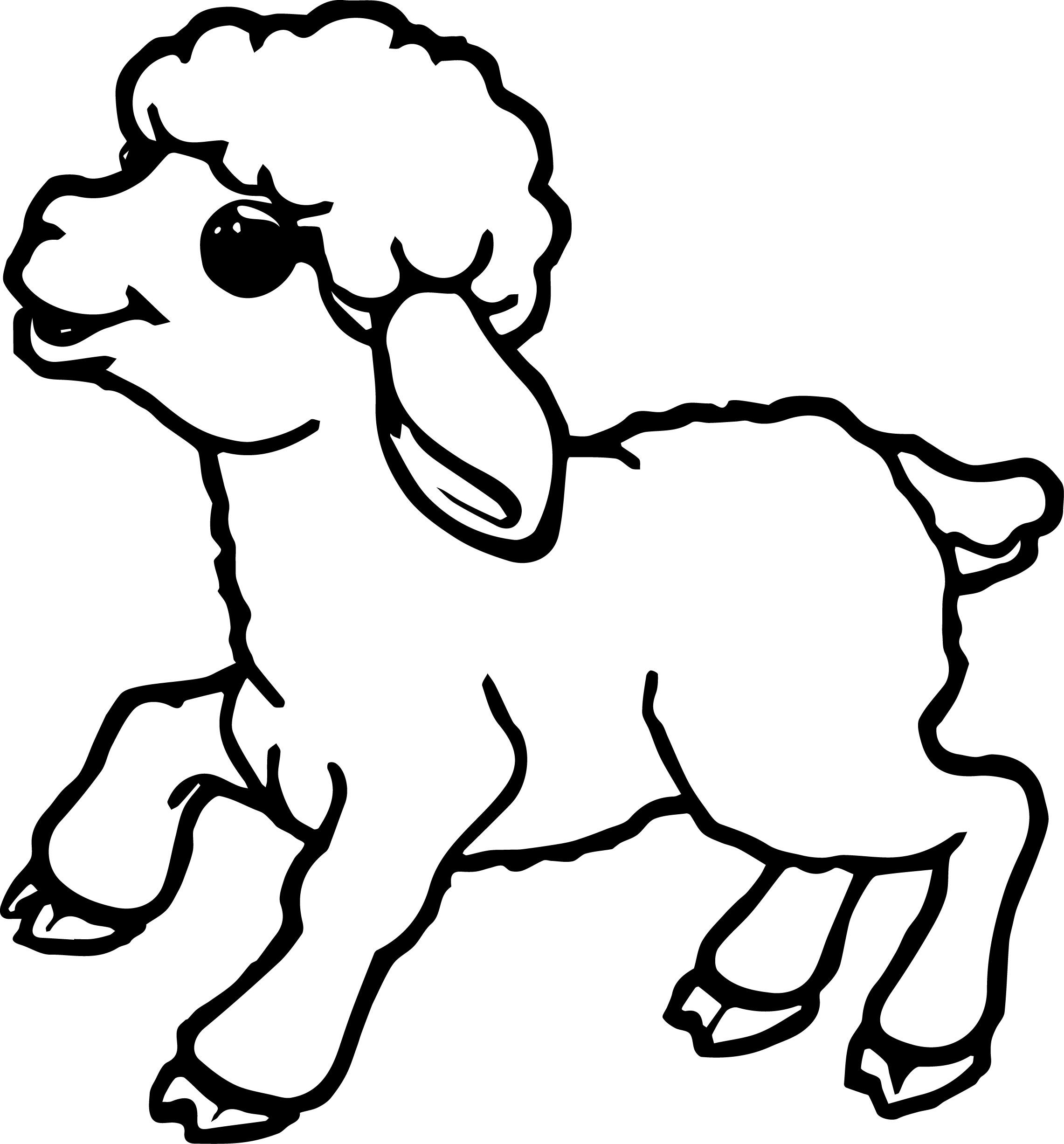 kid outline coloring page sheep outline coloring page coloring home coloring outline kid page