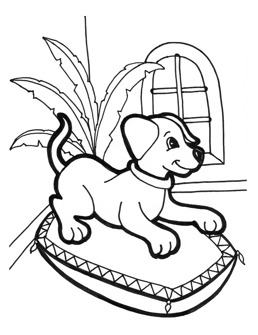 kids coloring puppy animals coloring pages cute puppy playing kids kids puppy coloring