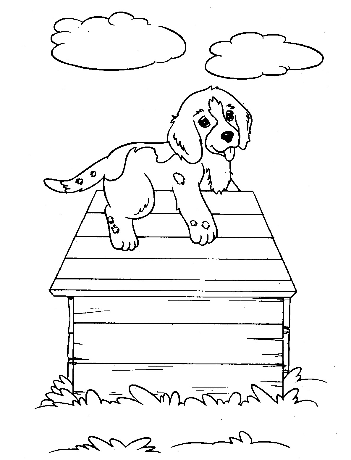kids coloring puppy dog free to color for children cute female dog dogs coloring kids puppy