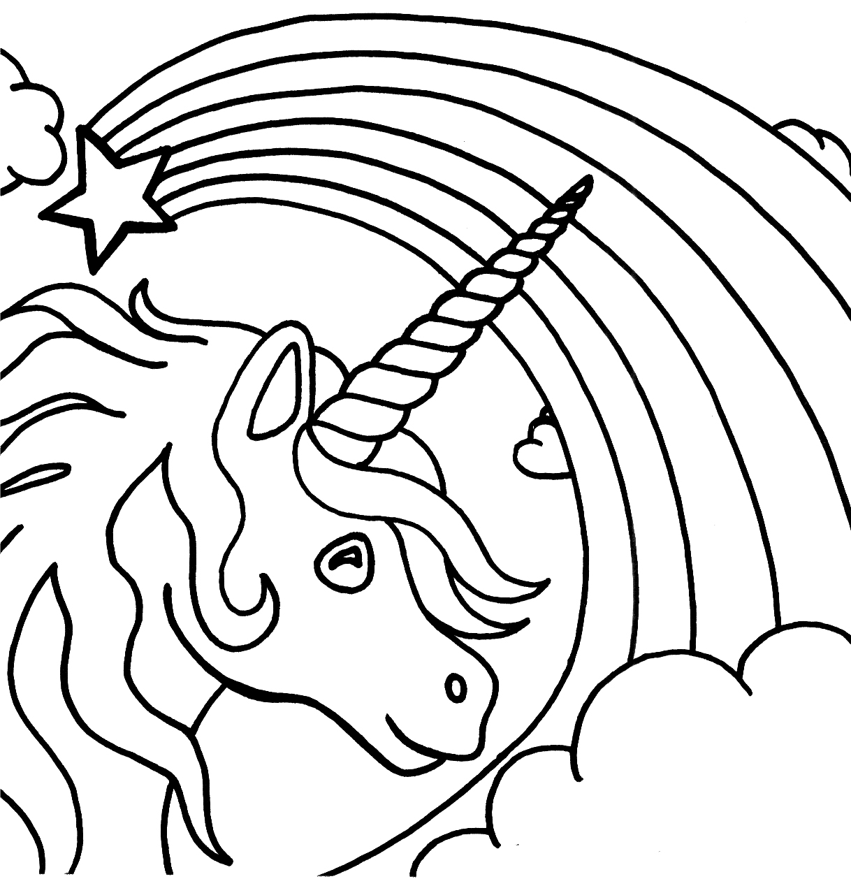 kids unicorn coloring pages unicorn coloring page for kids stock illustration kids unicorn coloring pages