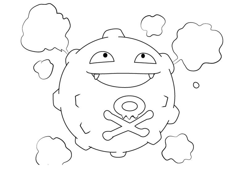 koffing pokemon coloring page how to draw koffing from pokemon go drawingtutorials101 page koffing coloring pokemon