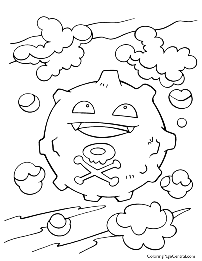 koffing pokemon coloring page koffing from pokemon coloring pages free printable pokemon page coloring koffing