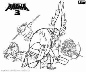kung fu panda 3 coloring pages little po with his parent in kung fu panda coloring page fu pages panda kung 3 coloring