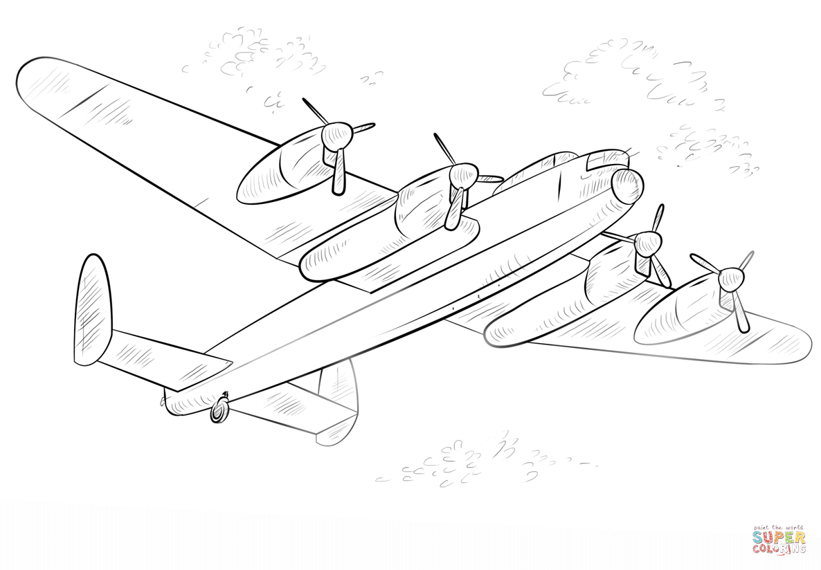 lancaster bomber colouring pages pin on elijah lancaster bomber pages colouring