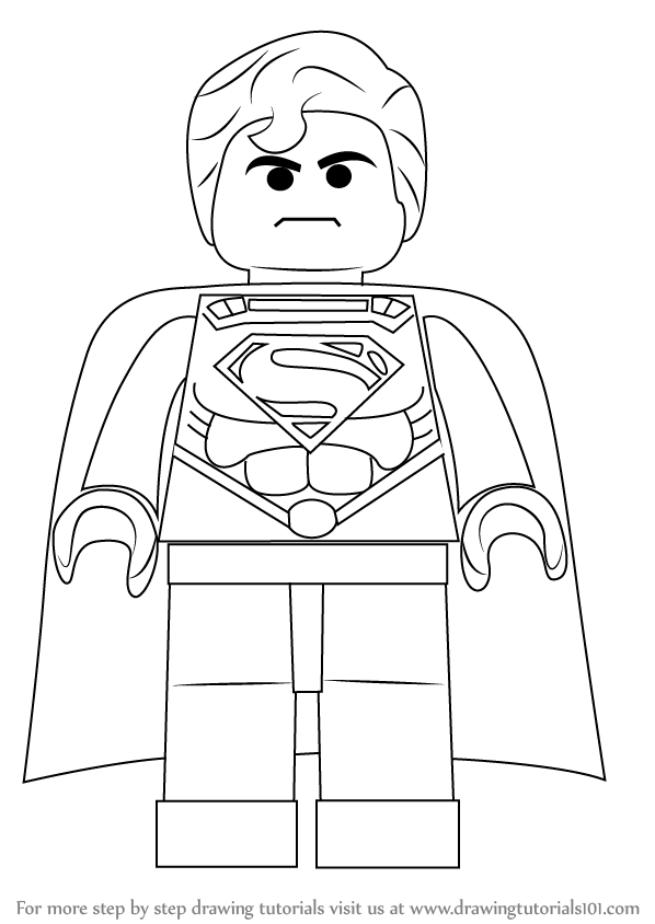 lego superman how to draw superman from the lego movie superman lego
