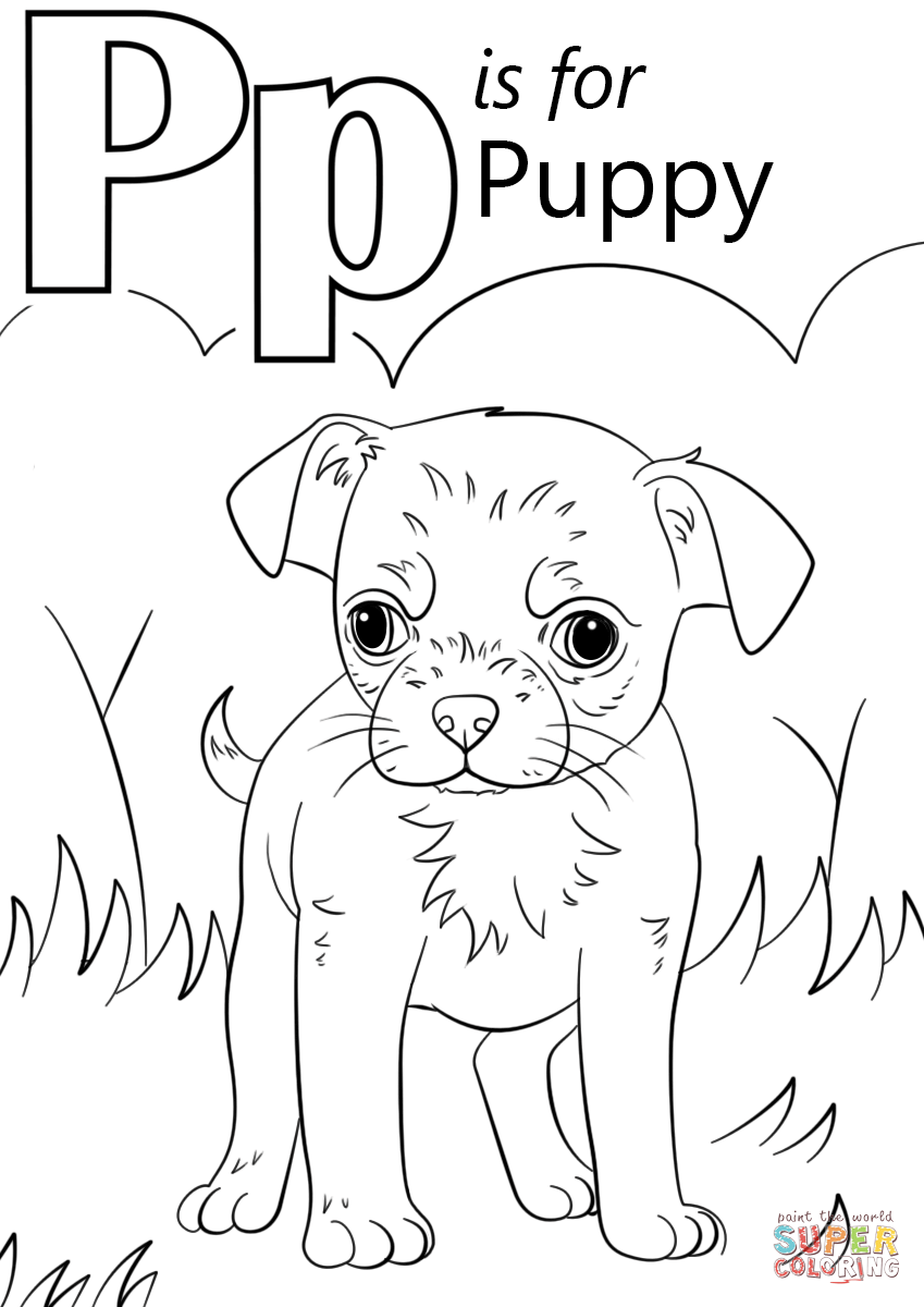 letter p coloring pages letter p is for puppy coloring page free printable coloring pages p letter