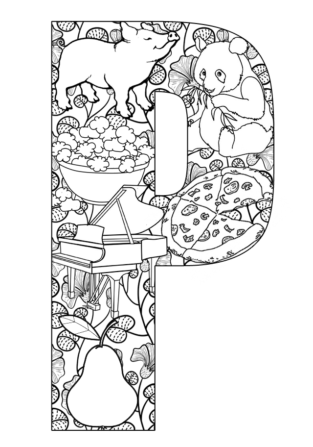 letter p coloring pages printable letters letters activities p coloring pages letter p