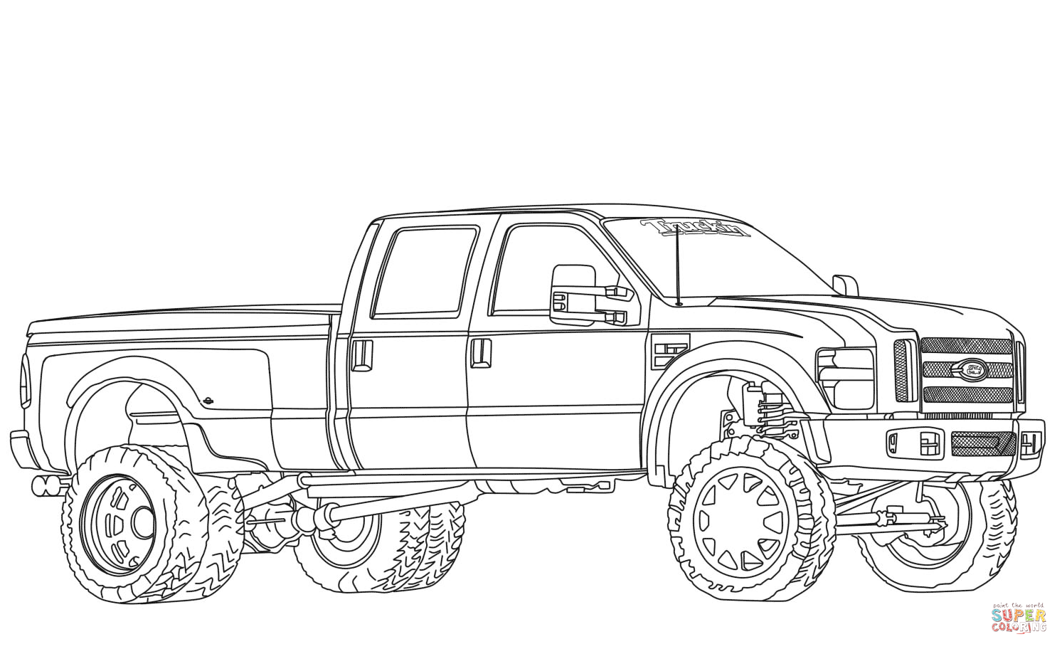 lifted ford truck coloring pages big ford trucks coloring pages coloring pages pages ford lifted truck coloring