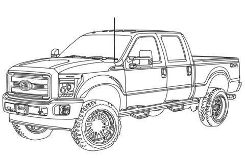 lifted ford truck coloring pages coloring ford pages truck 2020 truck coloring pages lifted ford pages coloring truck