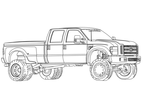 lifted ford truck coloring pages drawn truck ford f250 pencil and in color drawn truck ford coloring pages truck lifted