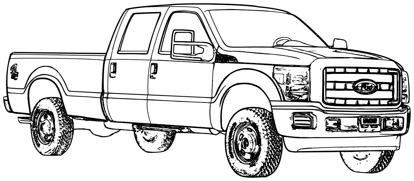 lifted ford truck coloring pages ford f 150 black line illustration truck art lifted coloring truck ford pages