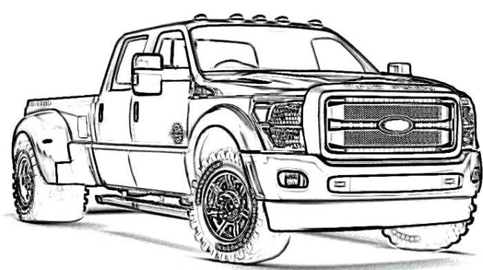 lifted ford truck coloring pages ford truck coloring pages truck coloring pages coloring truck ford lifted pages coloring