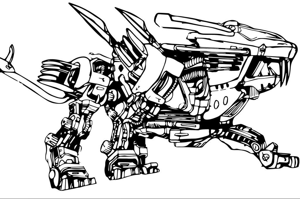 liger coloring pages blade liger from zoids by regar the dragon by regar the pages coloring liger