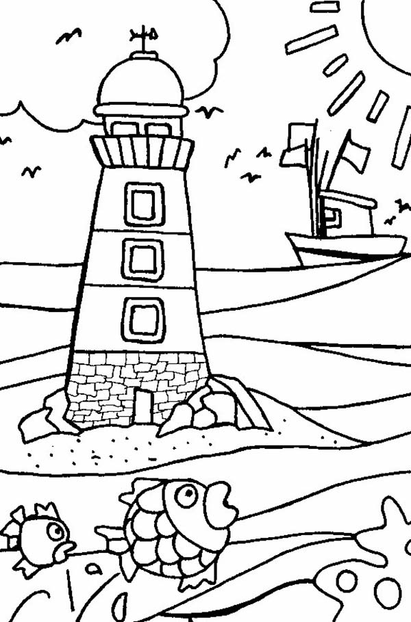 lighthouse coloring page a lighthouse coloring page color the bible coloring lighthouse page