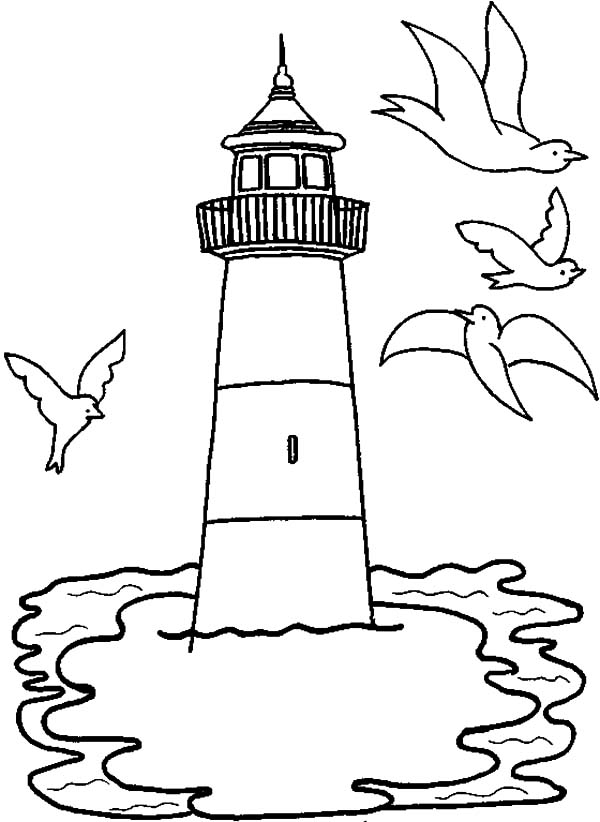 lighthouse coloring page lighthouse coloring pages to download and print for free coloring page lighthouse
