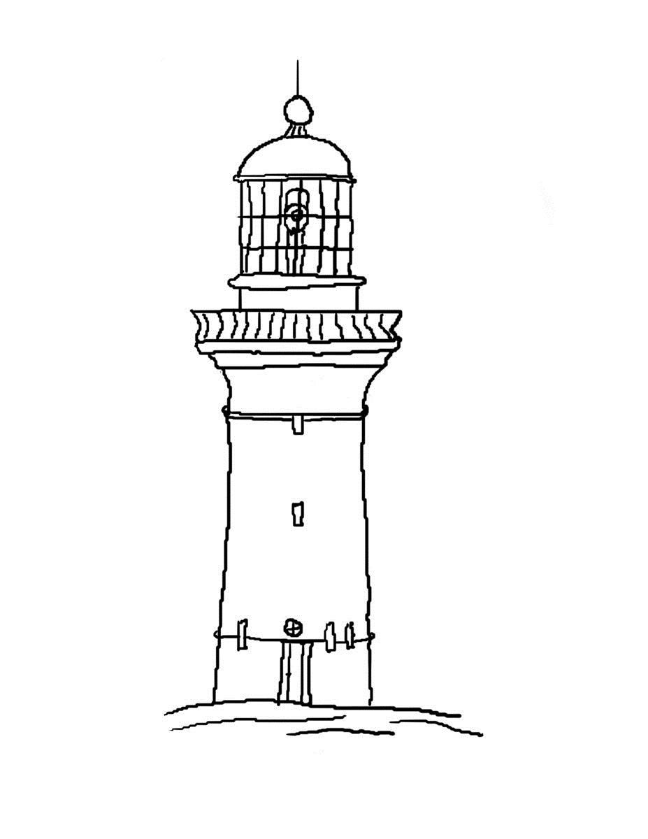 lighthouse coloring page lighthouse drawing easy at getdrawings free download page coloring lighthouse