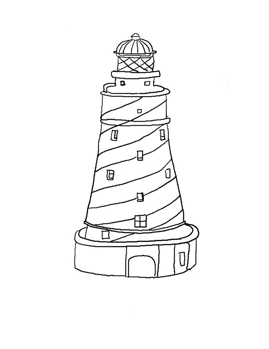 lighthouse coloring page lighthouse drawing images at getdrawings free download page lighthouse coloring