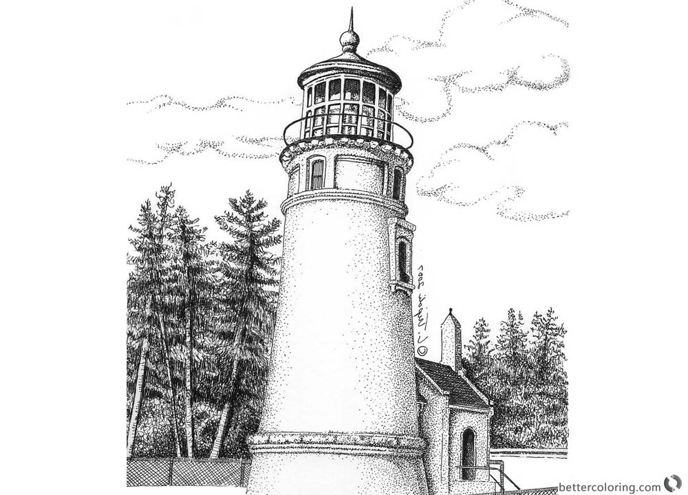 lighthouse coloring page lighthouse kiddicolour lighthouse coloring page